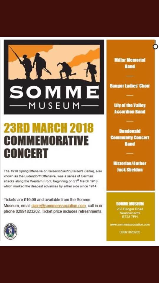 Somme Concert 23rd March